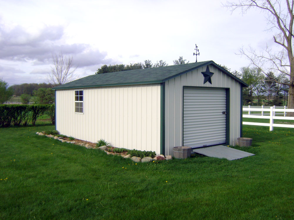 Atlantic storage building. 6' side walls. Martin's Mini Barns
