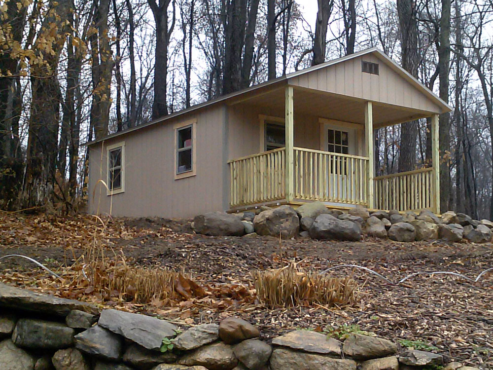 Custom mini off grid cabin by Martin's Mini Barns Northern Indiana